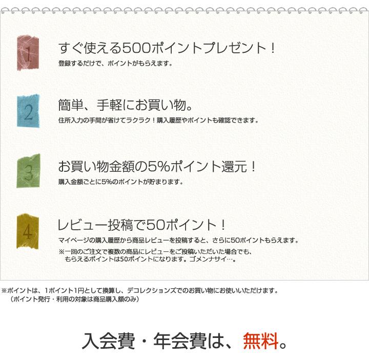 デコレクションズ 新規会員募集中!